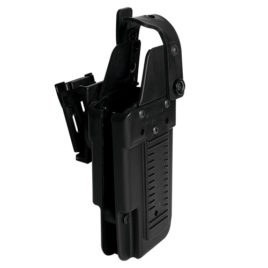 44875: Blade-Tech Tek-Lok Belt Clip Holster with thumb break for extra level of retention. Left Hand M26C