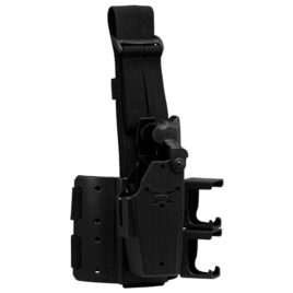 44921: Taser X26C Blade-Tech Thigh Holster with Cartridge Carrier Left Hand