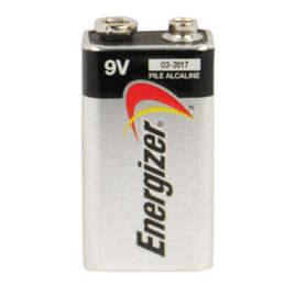 B-1: 9-volt Energizer Eveready Alkaline Battery