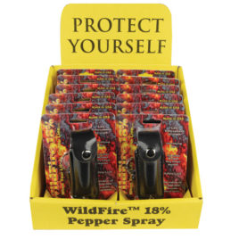 D-WF-LH-BLK: Wildfire Display 12 1/2oz Leatherette Black