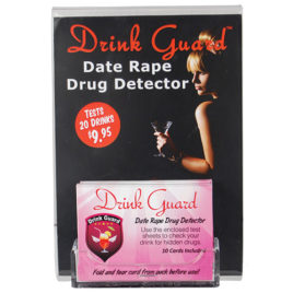 DISPLAY-DG: Drink Guard 5″ x 7″ Clear Acrylic Display with Card Holder and Drink Guard insert