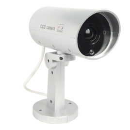 DM-MOTION: Indoor or outdoor motion activated dummy camera with flashing red LED light.