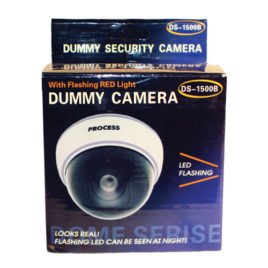DM-WHTCM: DUMMY DOME CAMERA WITH LED AND WHITE BODY
