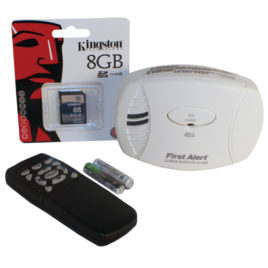 HC-CBNDT-DVR: CARBON MONOXIDE DETECTOR HIDDEN CAMERA WITH DVR & 8GB SD-CARD