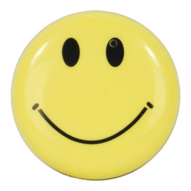 HC-SMILE-DVR: Mini Clip On Smiley Face Button Spy Hidden Camera with Built in DVR