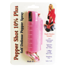 PS-1APINK: 1/2 oz w/Pink Injection Molded Holster & Quick Key Release Key Chain