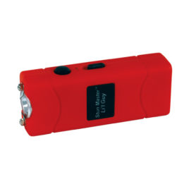 SM-LILGUY-RED: Stun Master Lil Guy 12,000,000 volts Stun Gun W/flashlight and Nylon Holster Red