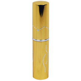 SM-LIPSTICK-G: Stun Master 3,000,000 Volt Rechargeable Lipstick Stun Gun with Flashlight, gold