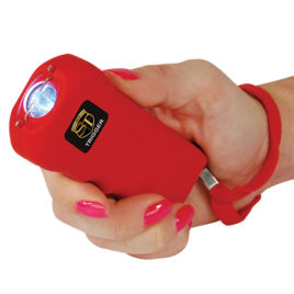 TRIGGER-RED: Trigger 18,000,000 Stun Gun Flashlight with Disable Pin.